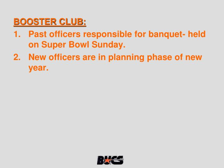 BOOSTER CLUB: