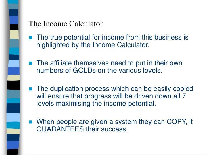 The Income Calculator