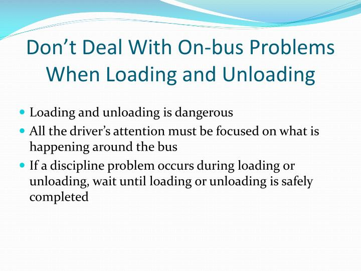 Don't Deal With On-bus Problems When Loading and Unloading