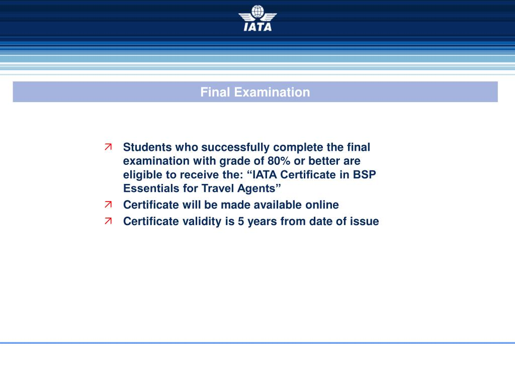 PPT - BSP Essentials for Travel Agents A New IATA e-learning
