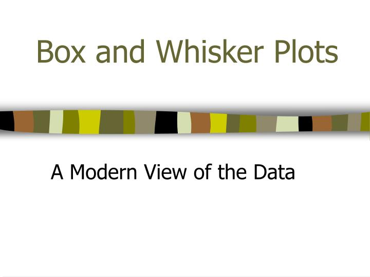 box and whisker plots n.