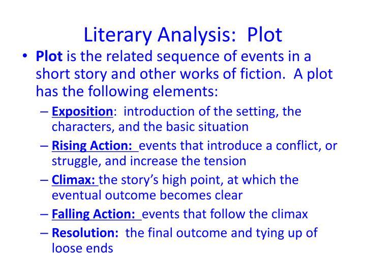 Literary Analysis:  Plot