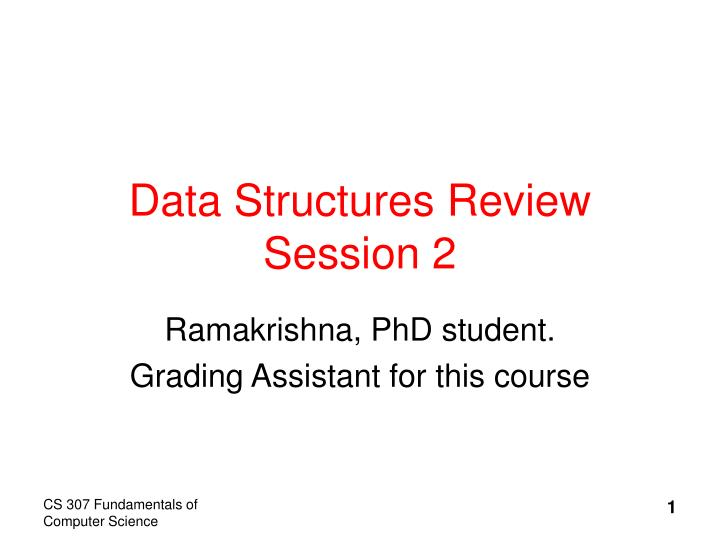 Data structures review session 2