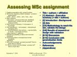 assessing msc assignment