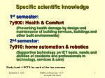 specific scientific knowledge