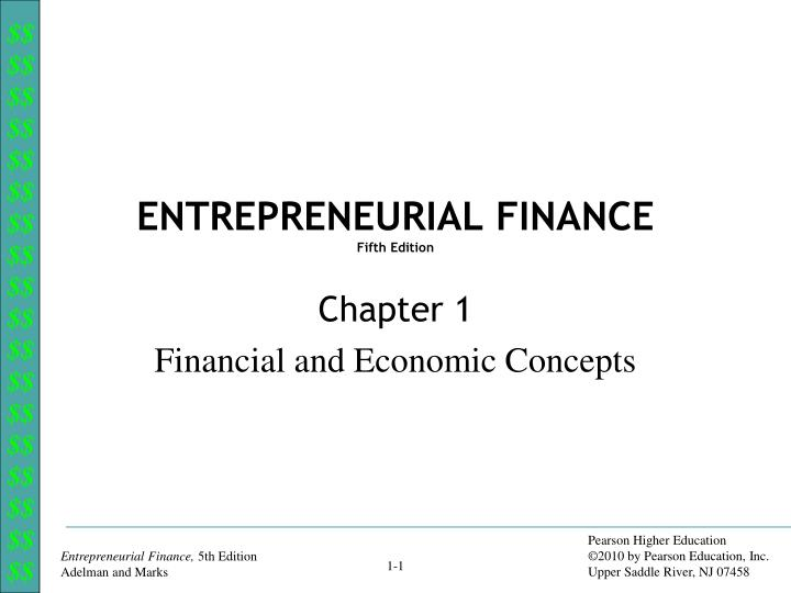 entreprenurial finance essay Entrepreneurial finance is the study of value and resource allocation, applied to new ventures it addresses key questions which challenge all entrepreneurs:.