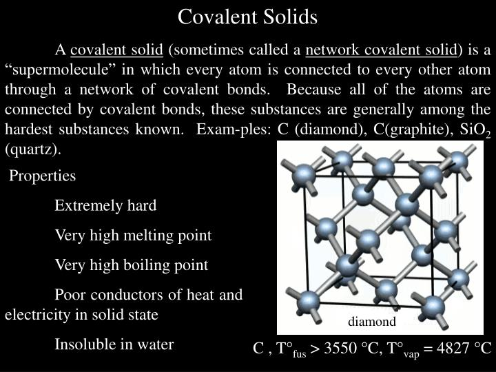 Covalent Solids