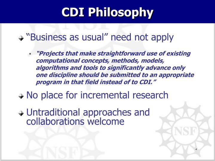 CDI Philosophy