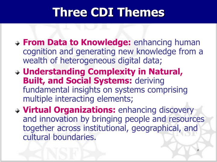 Three CDI Themes