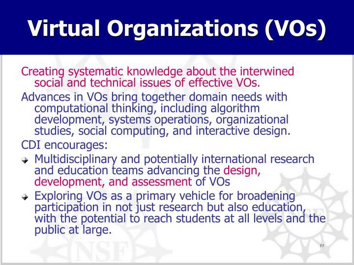 Virtual Organizations (VOs)