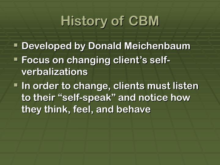 History of CBM