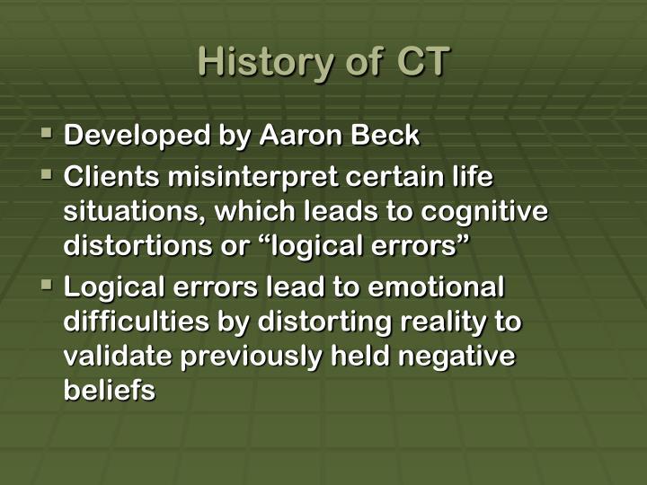 History of CT