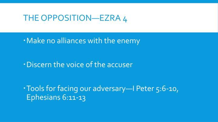 The Opposition—Ezra 4