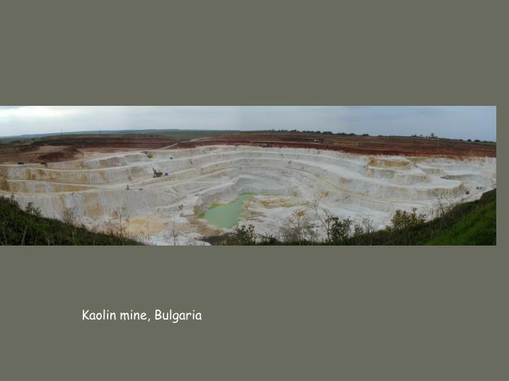 Kaolin mine, Bulgaria