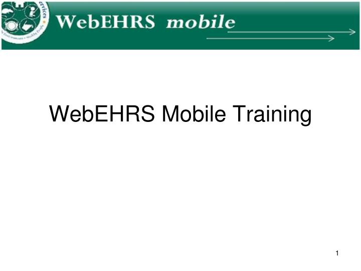 webehrs mobile training n.