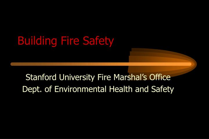 building fire safety n.