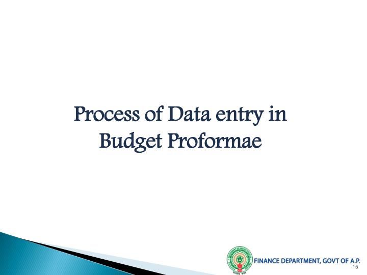 Process of Data entry in