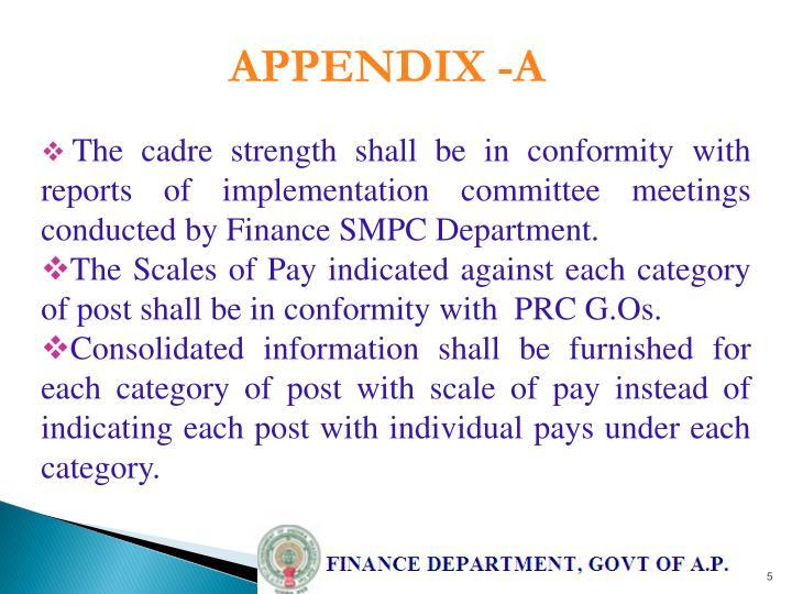 APPENDIX -A