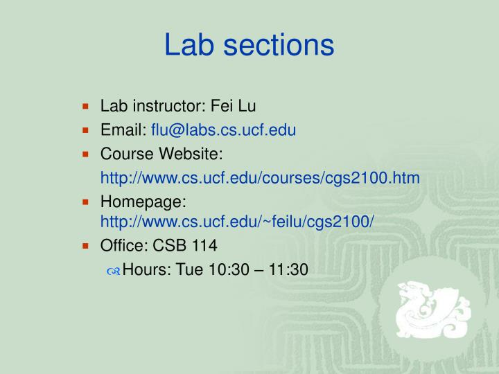 Lab sections