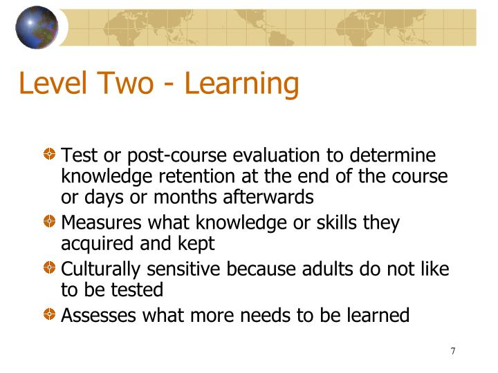 Level Two - Learning