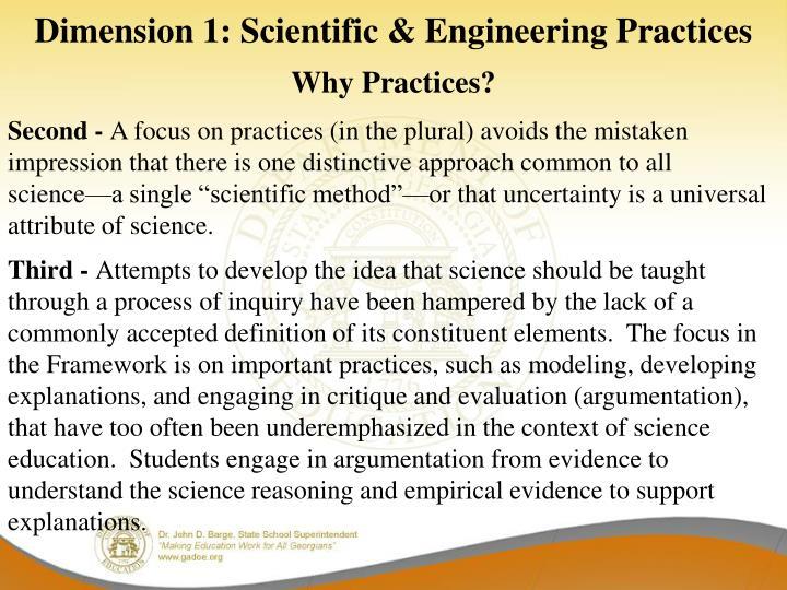 Dimension 1: Scientific & Engineering Practices