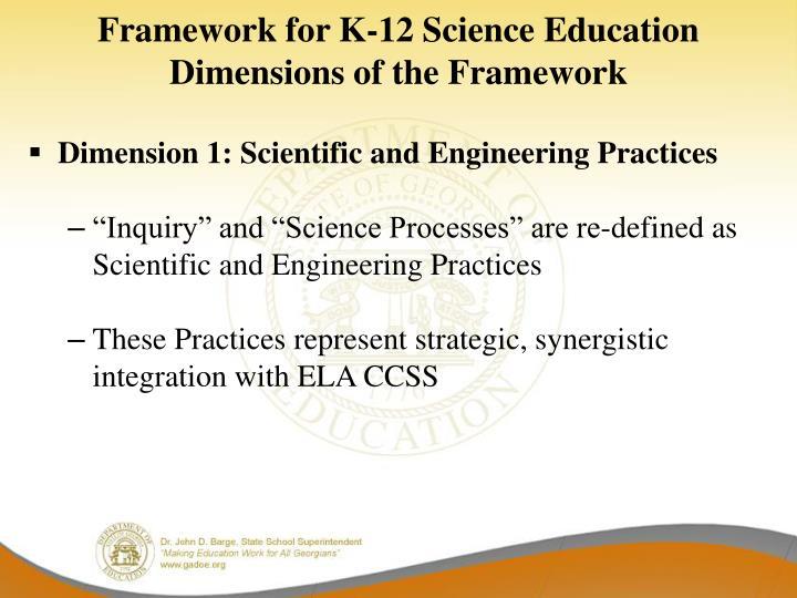 Framework for K-12 Science Education