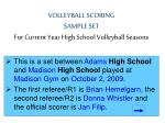 volleyball scoring sample set for current year high school volleyball seasons