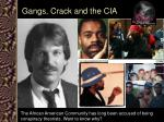 gangs crack and the cia