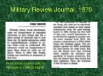 military review journal 1970