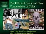 the effect of crack on urban communities of color