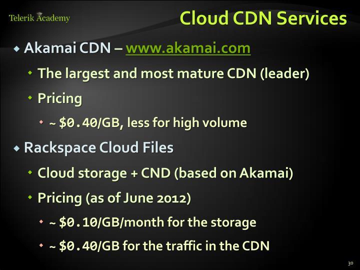 Cloud CDN Services