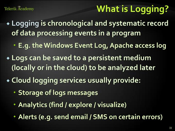 What is Logging?