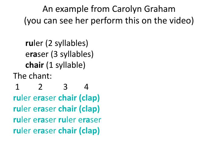 An example from Carolyn Graham