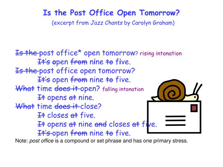 Is the Post Office Open Tomorrow?
