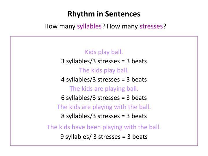 Rhythm in Sentences