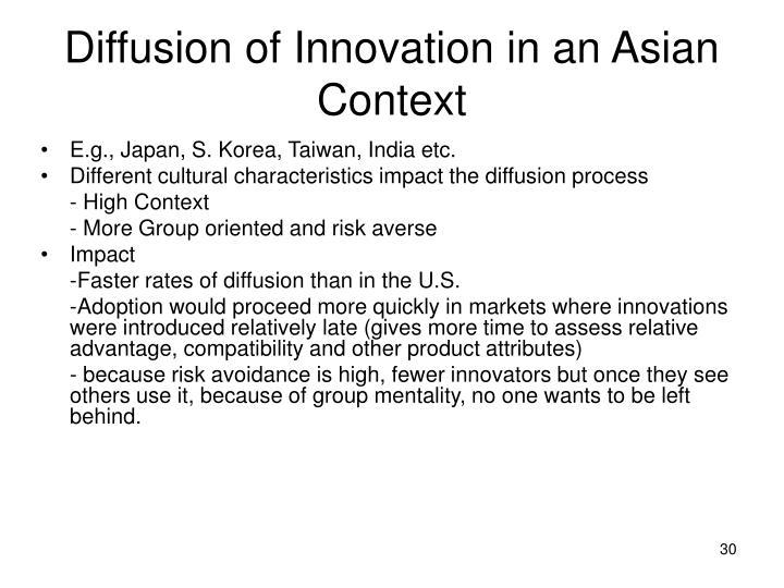 Diffusion of Innovation in an Asian Context