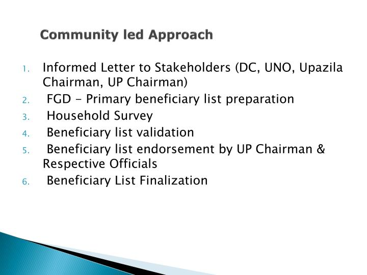 Community led Approach