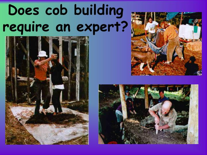 Does cob building require an expert?