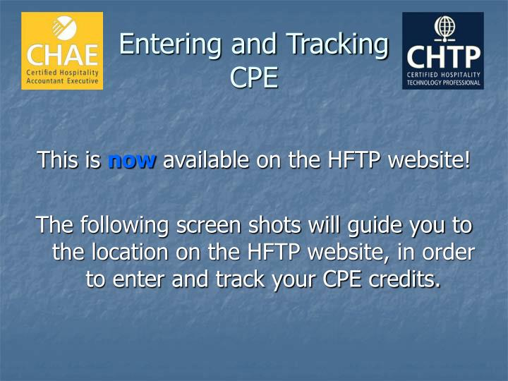 Entering and tracking cpe