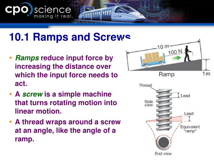 10.1 Ramps and Screws