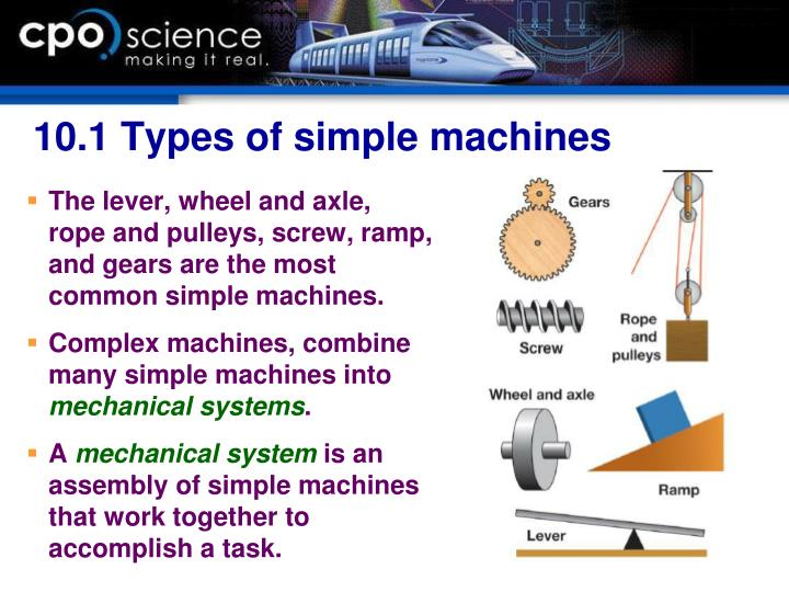 10.1 Types of simple machines