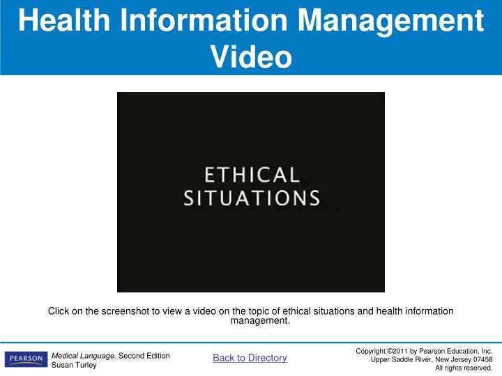 Health Information Management Video