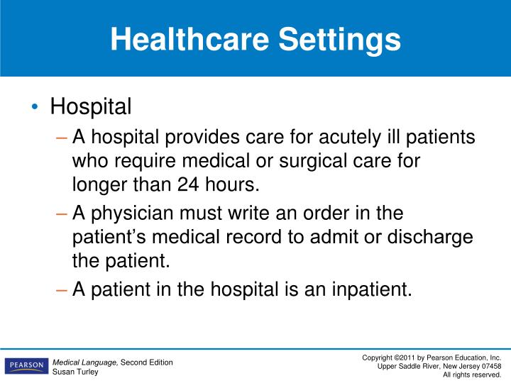 Healthcare Settings
