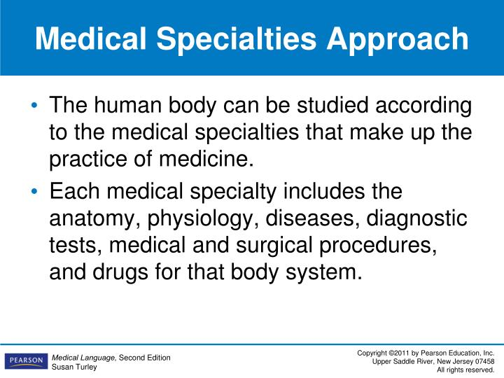 Medical Specialties Approach