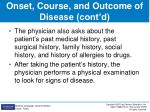 onset course and outcome of disease cont d2