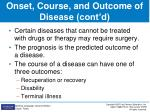 onset course and outcome of disease cont d8