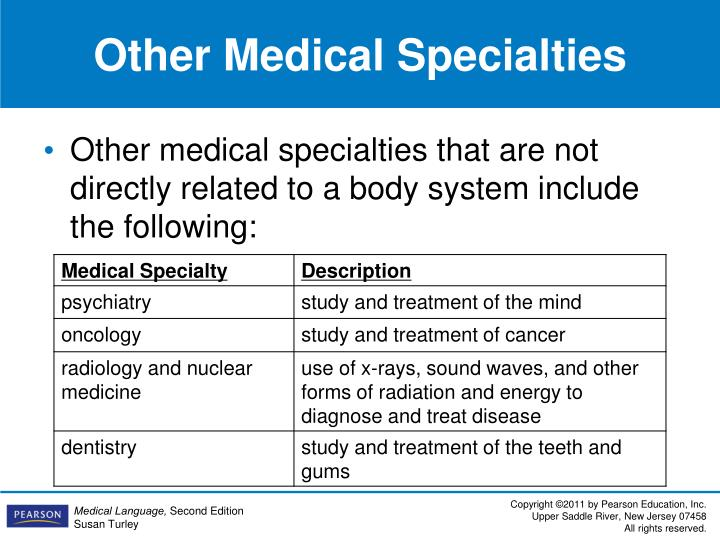 Other Medical Specialties