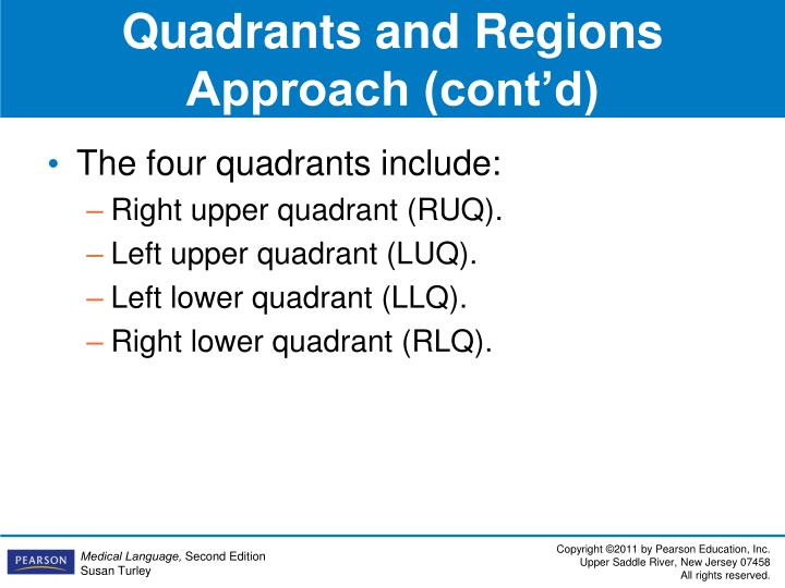 Quadrants and Regions Approach (cont'd)