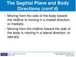the sagittal plane and body directions cont d1