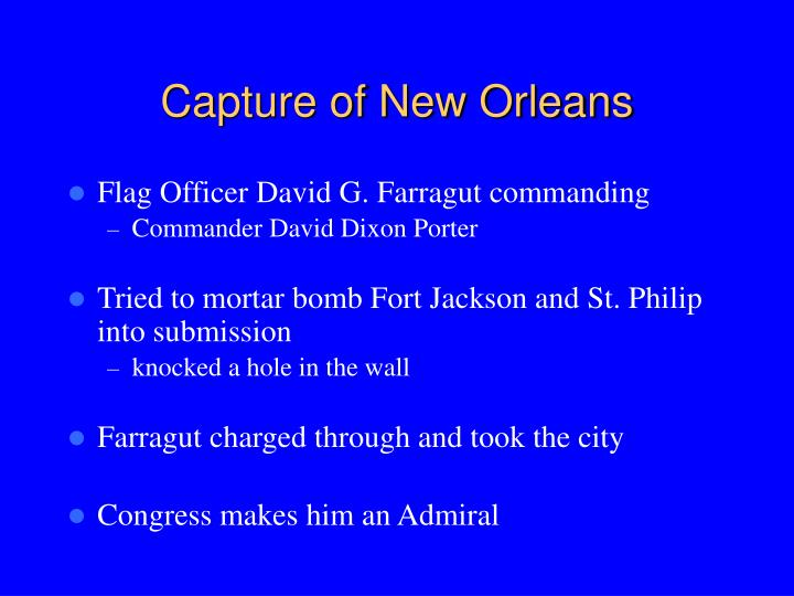 Capture of New Orleans